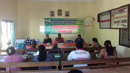 Program Peningkatan Kapasitas Masyarakat Pelatihan Livelihood Tahun 2018